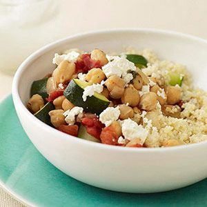 Slow Cooker Chickpea Stew Over Couscous