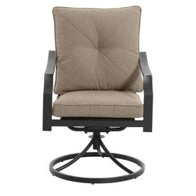 Awesome Garden Treasures Vinehaven 2 Count Brown Steel Swivel Patio Cjindustries Chair Design For Home Cjindustriesco