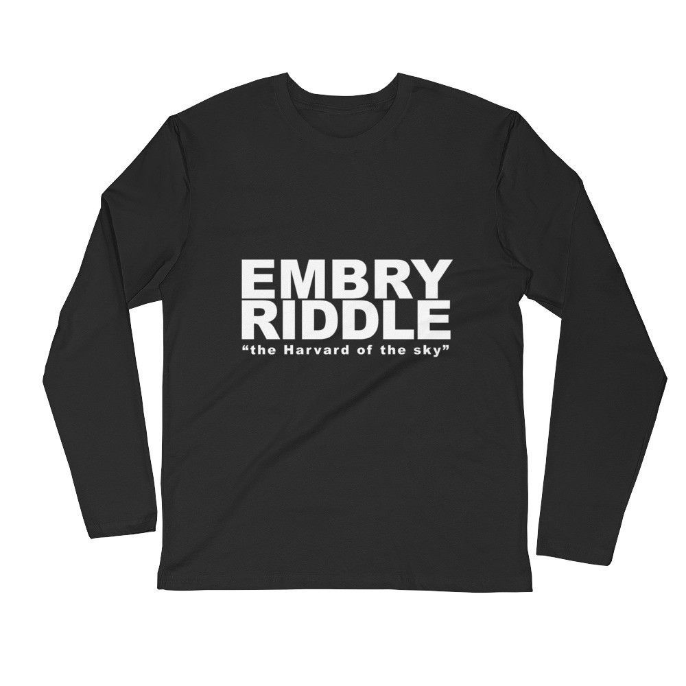 252df0b1f Unisex Embry-Riddle the Harvard of the sky Long Sleeve Fitted Crew T-Shirt