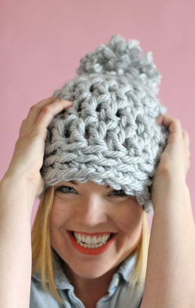30 Minute Easy Chunky Crochet Beanie Chunky Crochet Free Pattern