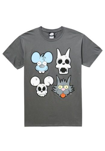 c6b982ab Details about Official MENS The Simpsons ITCHY AND SCRATCHY Skull ...