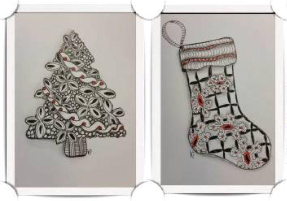 Pin by Joyce Evans on Zentangle Christmas Card Ideas