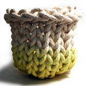 Image of Medium Knit Rope Basket