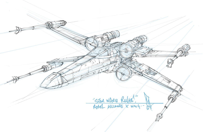 Star Wars T 65 Incom X Wing Sketch By Shane Molina Star Wars Prints Star Wars Tattoo Tattoo Star Wars