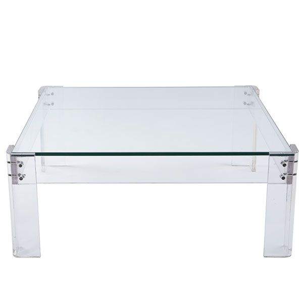 Inspired By Mcm Wisteria Furniture Coffee Tables Acrylic Table With Glass Coffee Table Coffee Table Coffee Table Rectangle Living Room Coffee Table