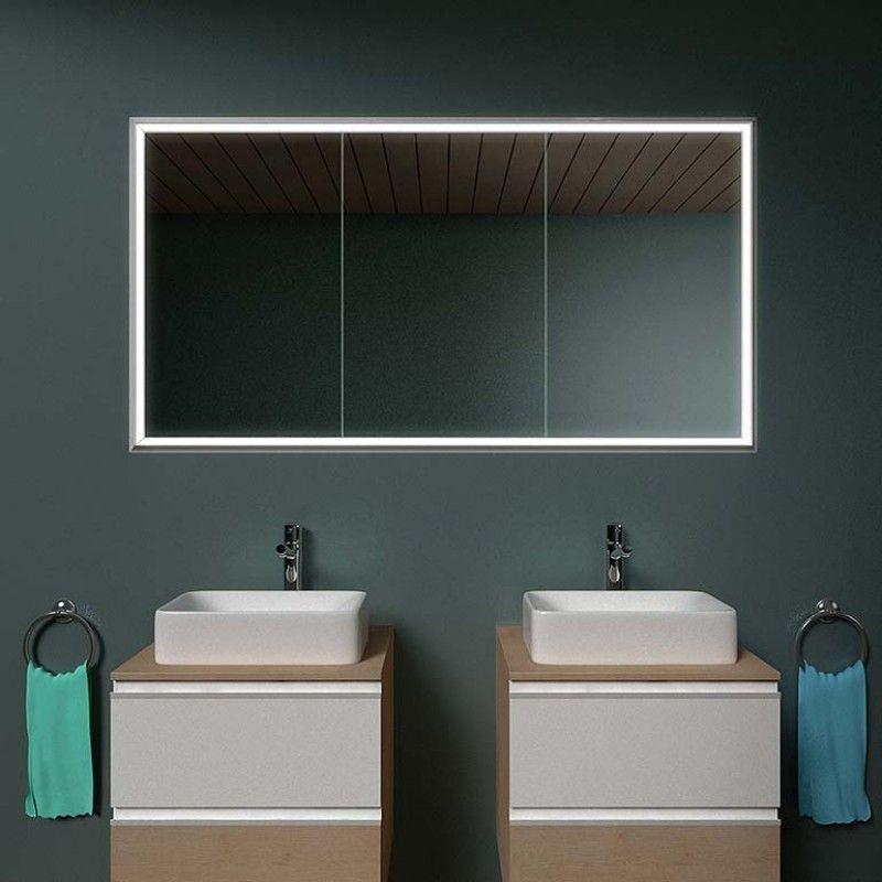 Spiegelschrank Mit Leuchtrahmen Kaufen Hamburg 1 Spiegel21 Spiegelschrank Beleuchtung Spiegelschrank Einbau Spiegelschrank