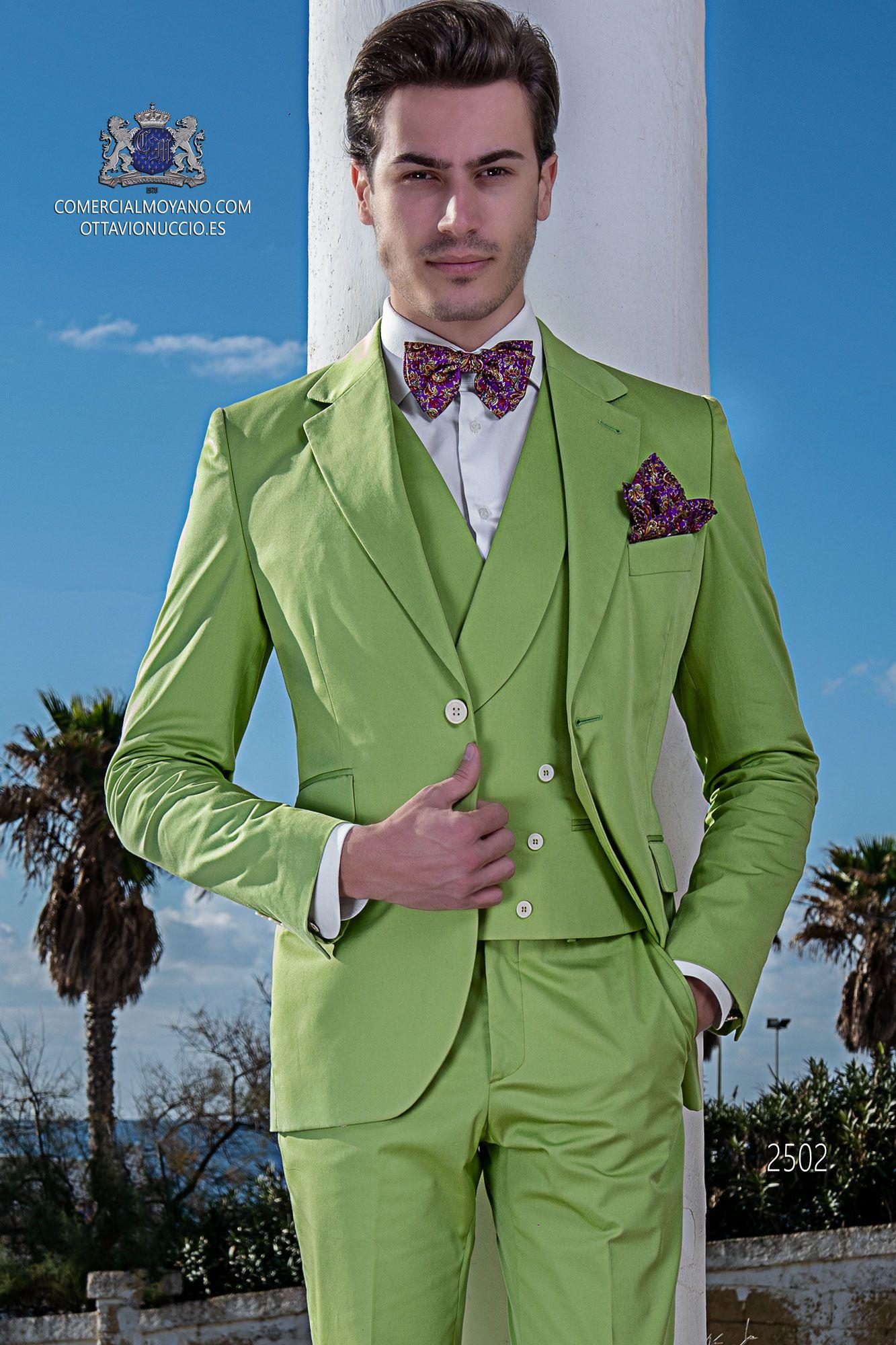 Bräutigam Anzug modern, grün, Italienisch Ottavio Nuccio