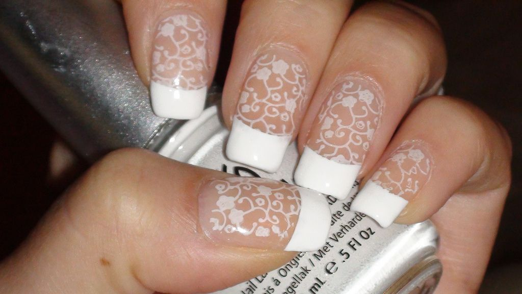 Sweet konad french nail art