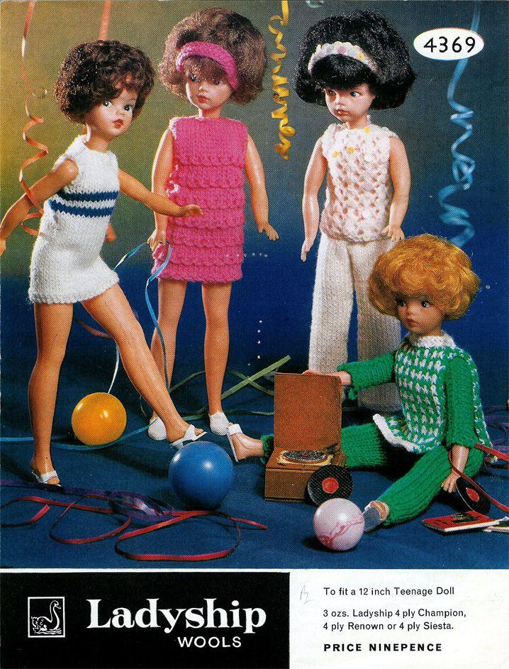 Vintage Sindy Doll Knitting Pattern The Joy Of Color Pinterest