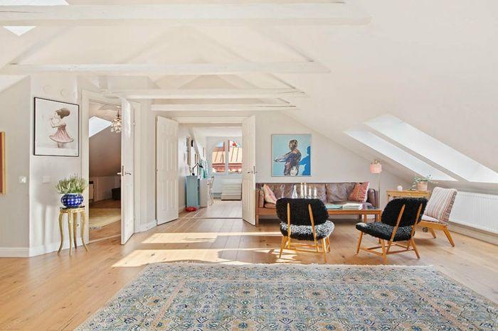 Wohnung einrichten u2013 Wohnideen fu00fcr Zimmer mit Dachschr
