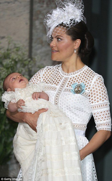 Prince Oscar of Sweden's Christening in Stockholm
