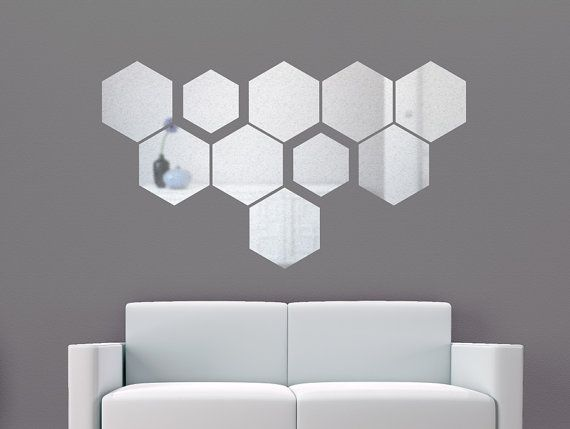 Reflective wall decal honeycomb vinyl stickers for by stickdecor