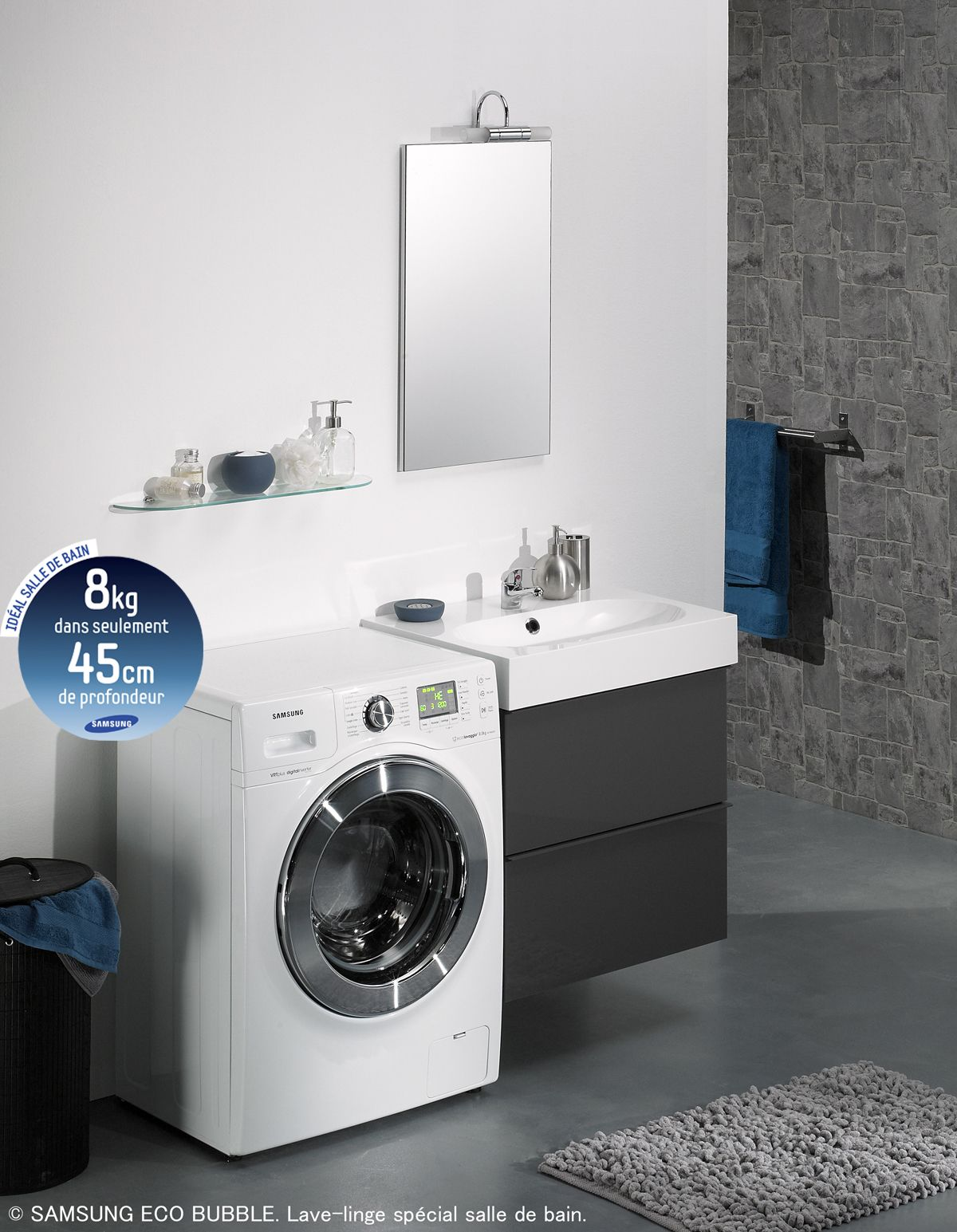 samsung lave linge gain de place wf1802xec eco bubble