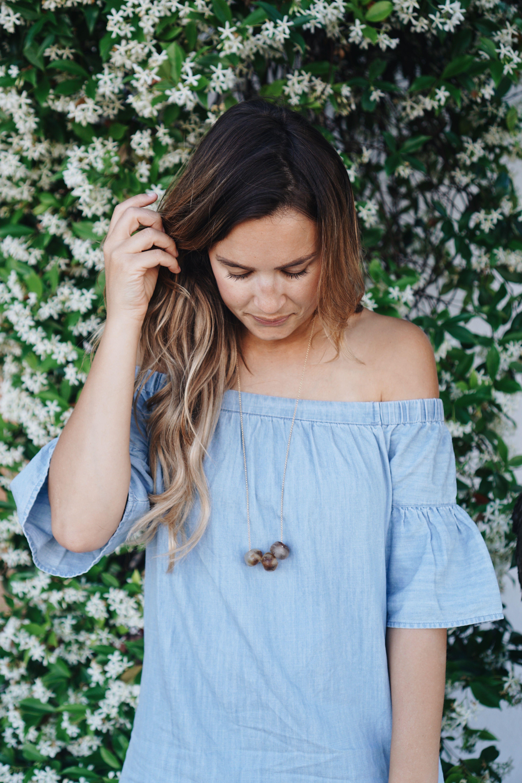 6f15d4c45828 The Camille Necklace + Madewell Azalea Dress – Natalie Borton Blog ...
