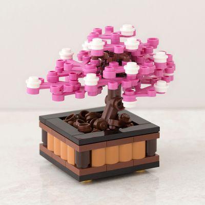 Bonsai Tree Cherry Blossom Lego Tree Lego Design Lego Pictures