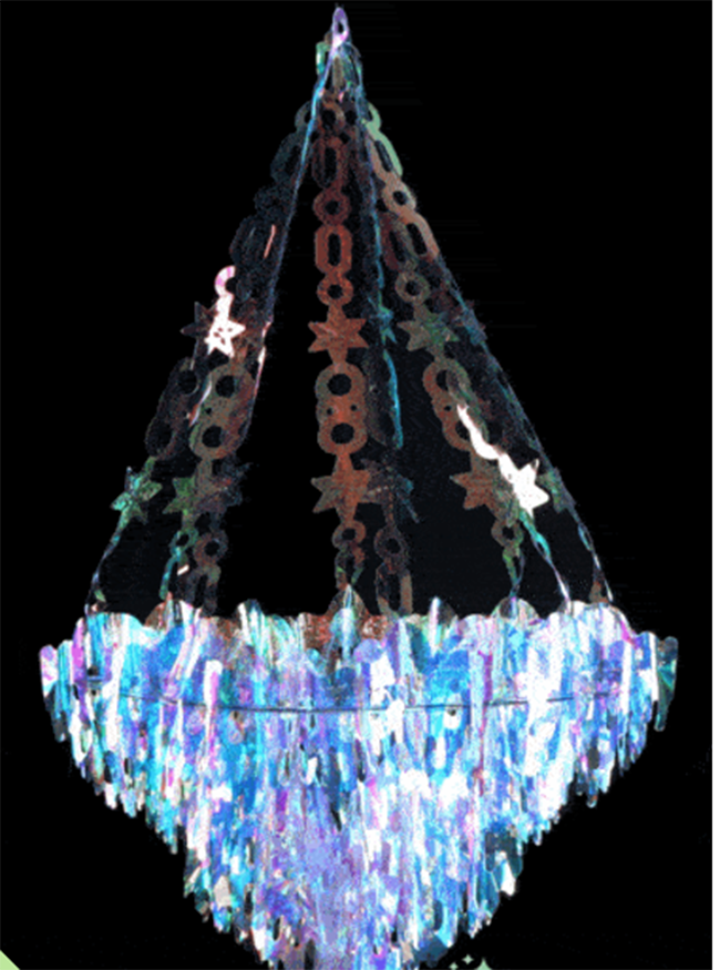 Trend alert iridescent holographic party holographic pinterest iridescent party chandelier see more iridescent hologram party ideas on b lovely events aloadofball Choice Image