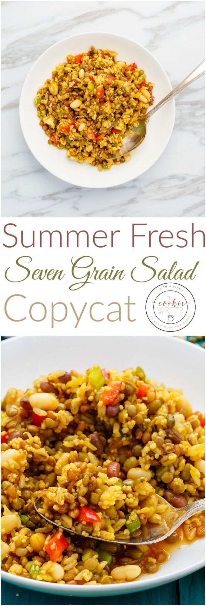 Summer Fresh Seven Grain Salad Copycat #cookiesalad