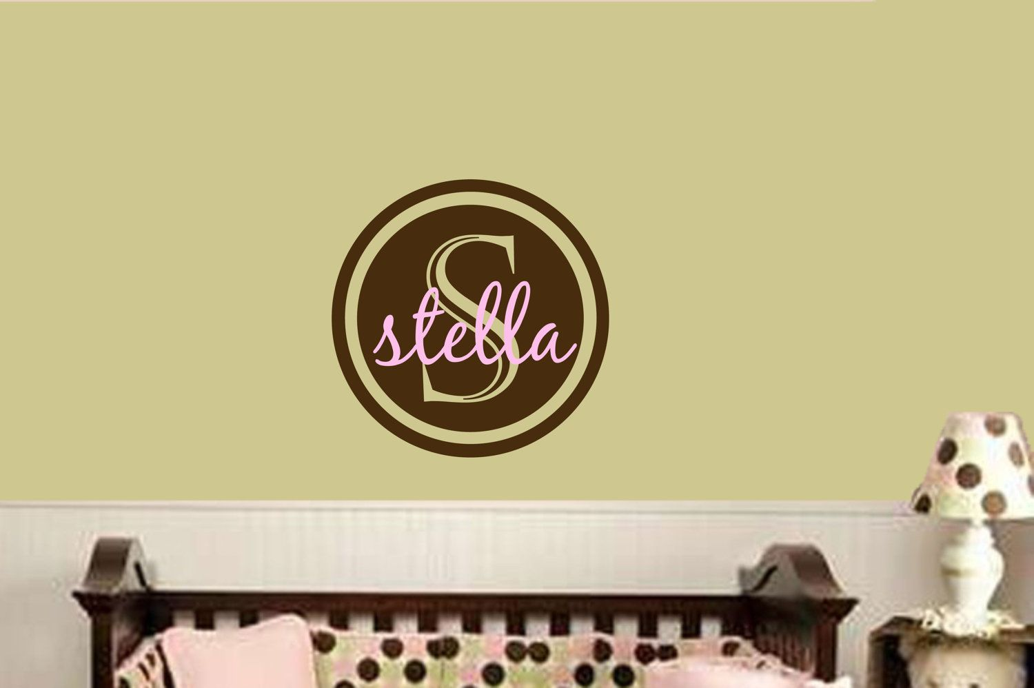 Boy Nursery Monogram Wall Decal Baby Boy Name Decals Personalized ...
