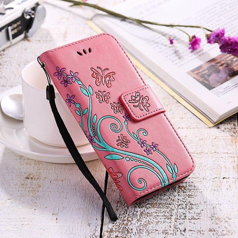 brand new bd086 2f111 Details about Womens Flip Wallet Case Gel Holder Flower Bow Print ...