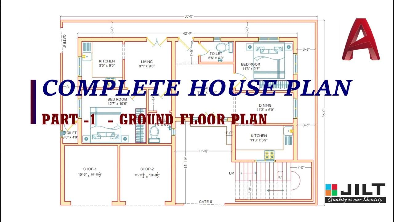 Ground Floor Plan Part 1 Complete Dimensions Ground Floor Plan Floor Plans How To Plan