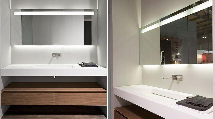 Espejos de ba o con luz pir mide selva bathroom for Espejos cuarto de bano