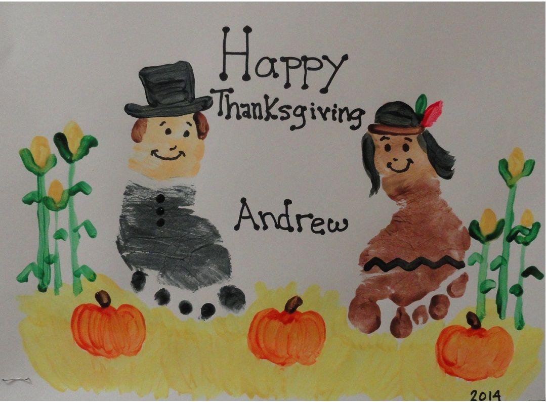 Pilgrim Native American Thanksgiving Foot Prints
