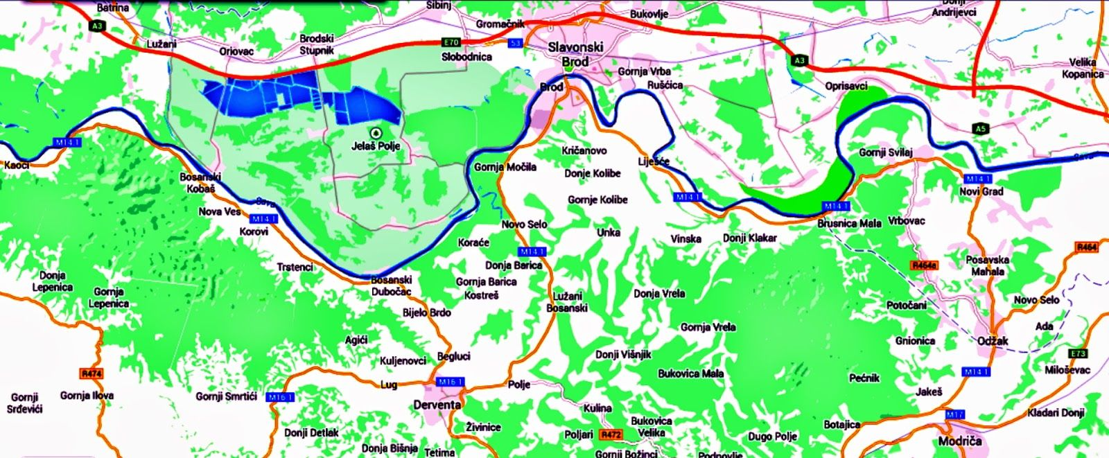Slavonski Brod Je Divan Grad Na Rijeci Savi Slavonski Brod Grad Map Screenshot