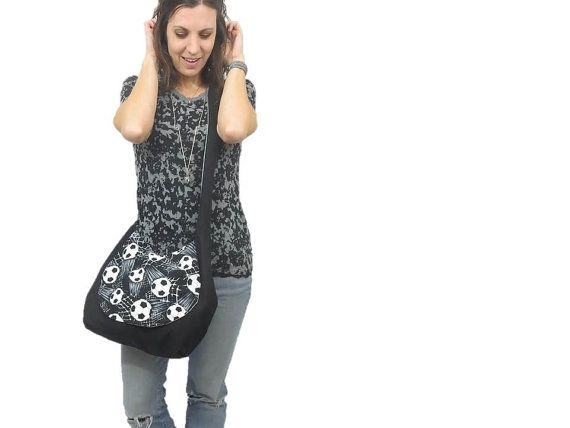 ultimate sports mom bag. large cross body hobo bag by SmiLeStyles #sports #baseball #soccer #fashion