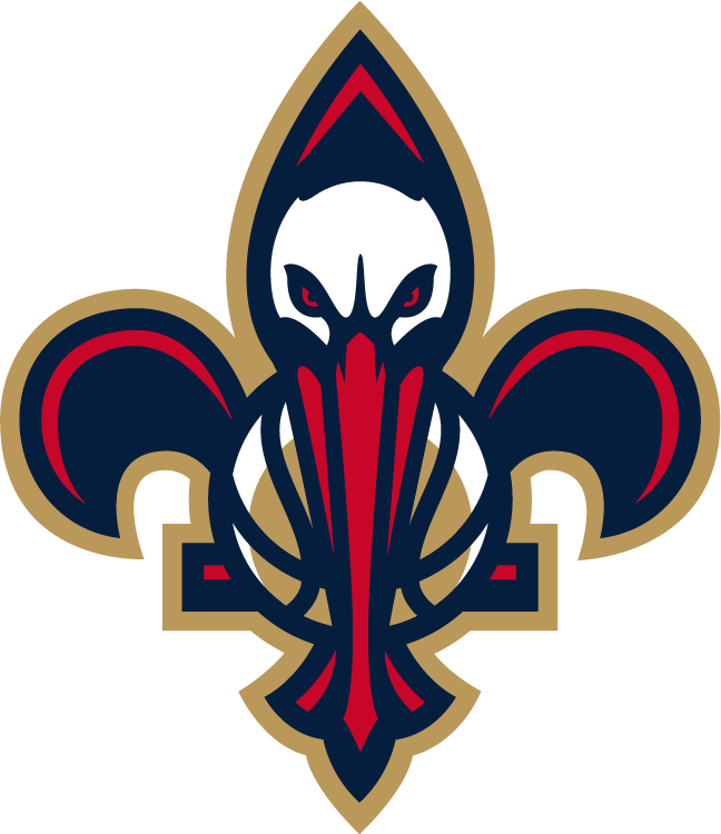 New Orleans Pelicans Secondary Logo 2014 The Bird De Lis