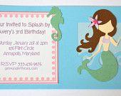 1 Shimmery mermaid birthday invitation.