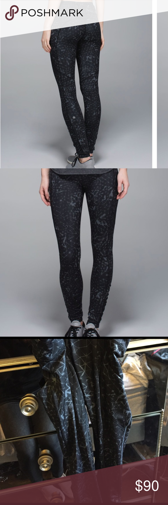 06d45f7fb Lululemon Speed Tight III - Luxtreme Lululemon speed tight III in star  crushed coal black. Sold out pattern! lululemon athletica Pants Leggings