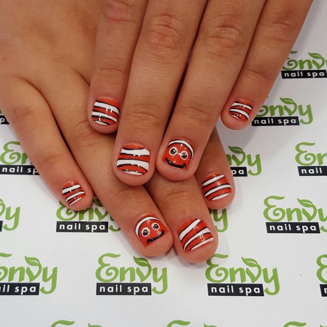 Nemo, Clown Fish Nails - Envy Nail Spa | Cartoon Characters ...