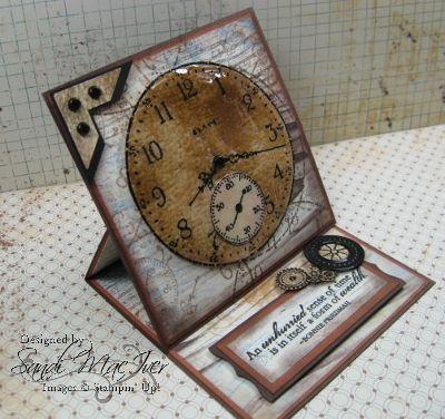 Sense of Time Stamp Set - Easel Card by SandiMac - Cards and Paper Crafts at Splitcoaststampers