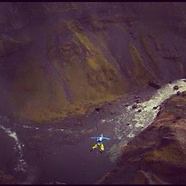Remember that massive waterfall? @matthiasgiraud jumped off it. www.viddy.it/RwCcAl #viddy #basejumping