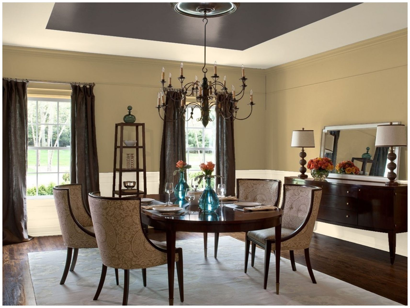 benjamin moore green tea dining room | painting | pinterest