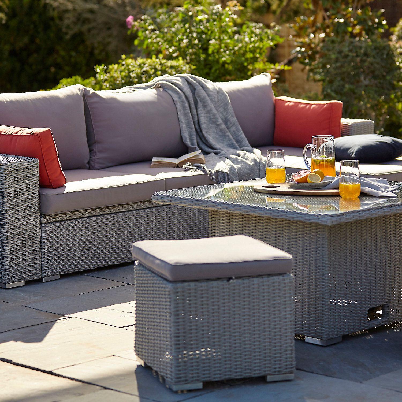 Gabbs Rattan Effect 3 4 Seater Garden Sofa Patio Furniture Backyard Furniture Patio Furniture Sets