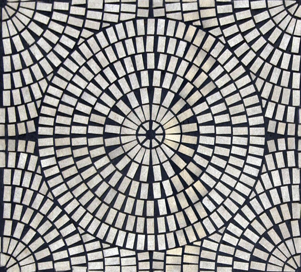 Circular Rectangular Tiles Mosaic Patterns Mosaic Flooring