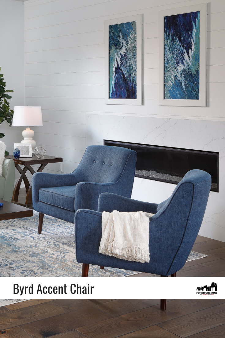 Byrd Accent Chair  Blue accent chairs living room, Beige living
