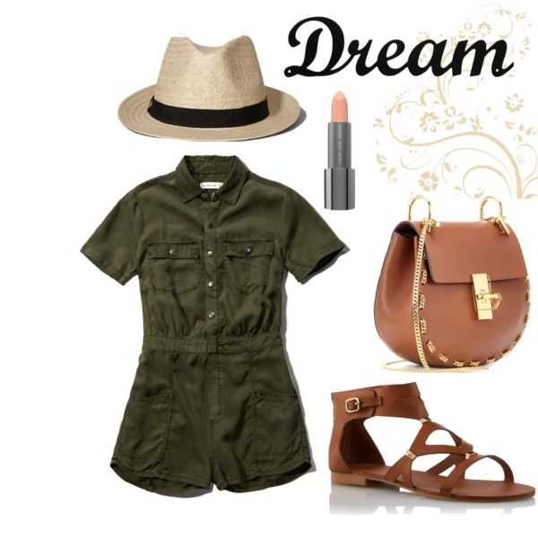 Cargo Safari by karinateal3 on Polyvore featuring polyvore fashion style Abercrombie & Fitch Chloé Easy Spirit Dot & Bo