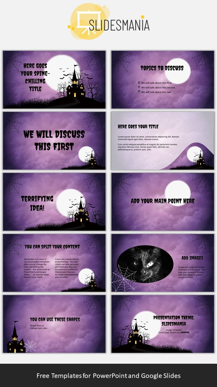 Free Halloween Theme for Google Slides or PowerPoint