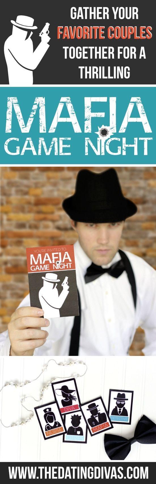 Mafia Date Night Game night parties, Couples game night
