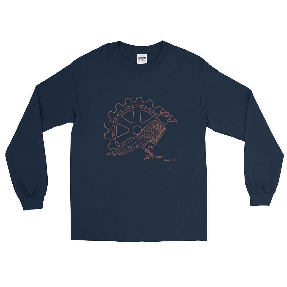 Steampunk Raven Boss - Long Sleeve T-Shirt (Unisex)