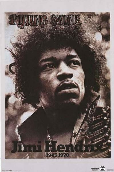 Jimi Hendrix Rolling Stone Magazine Poster 22x34   G jimi