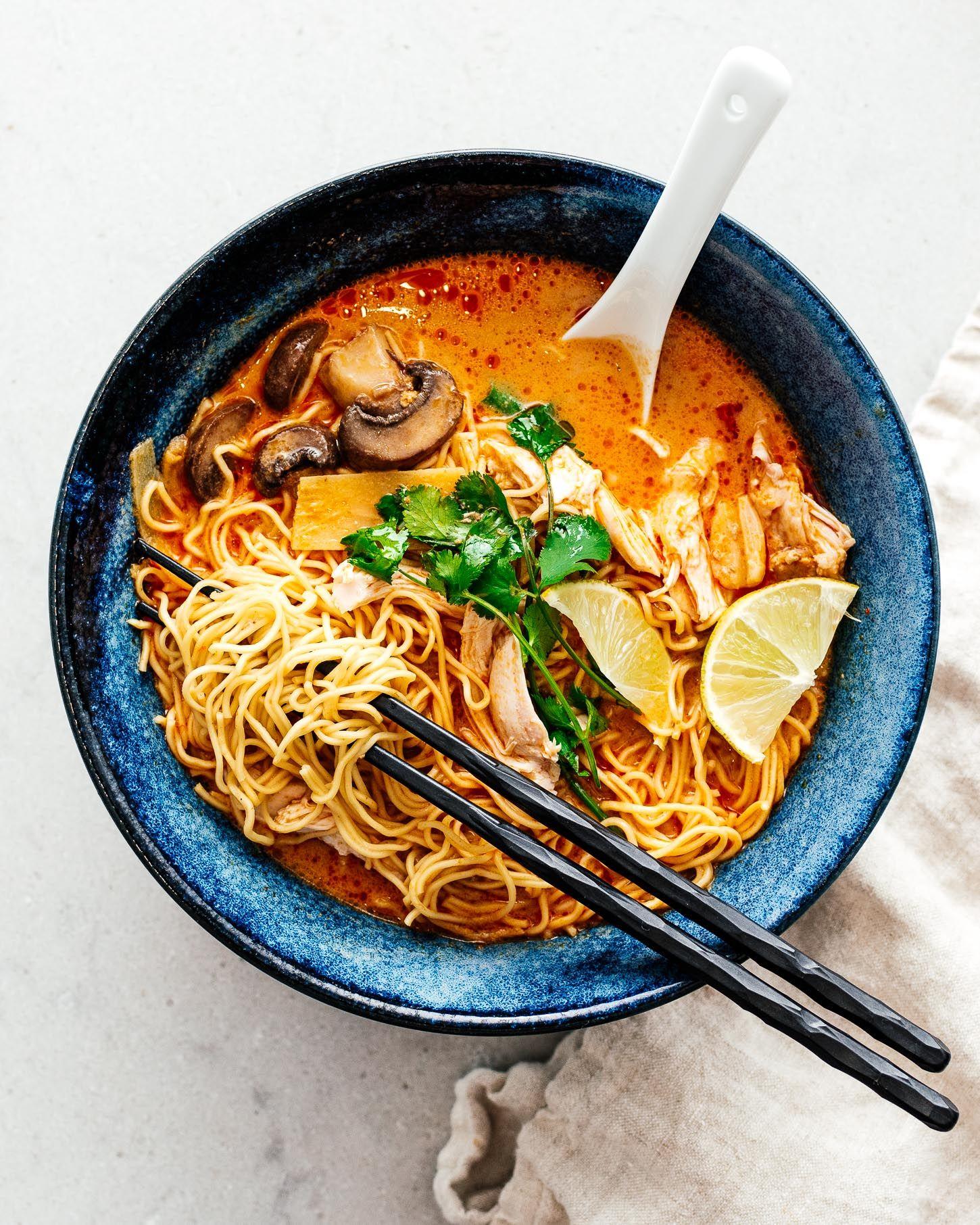 15 Minute Thai Red Curry Ramen Recipe I Am A Food Blog Recipe Curry Ramen Ramen Recipes Food Blog