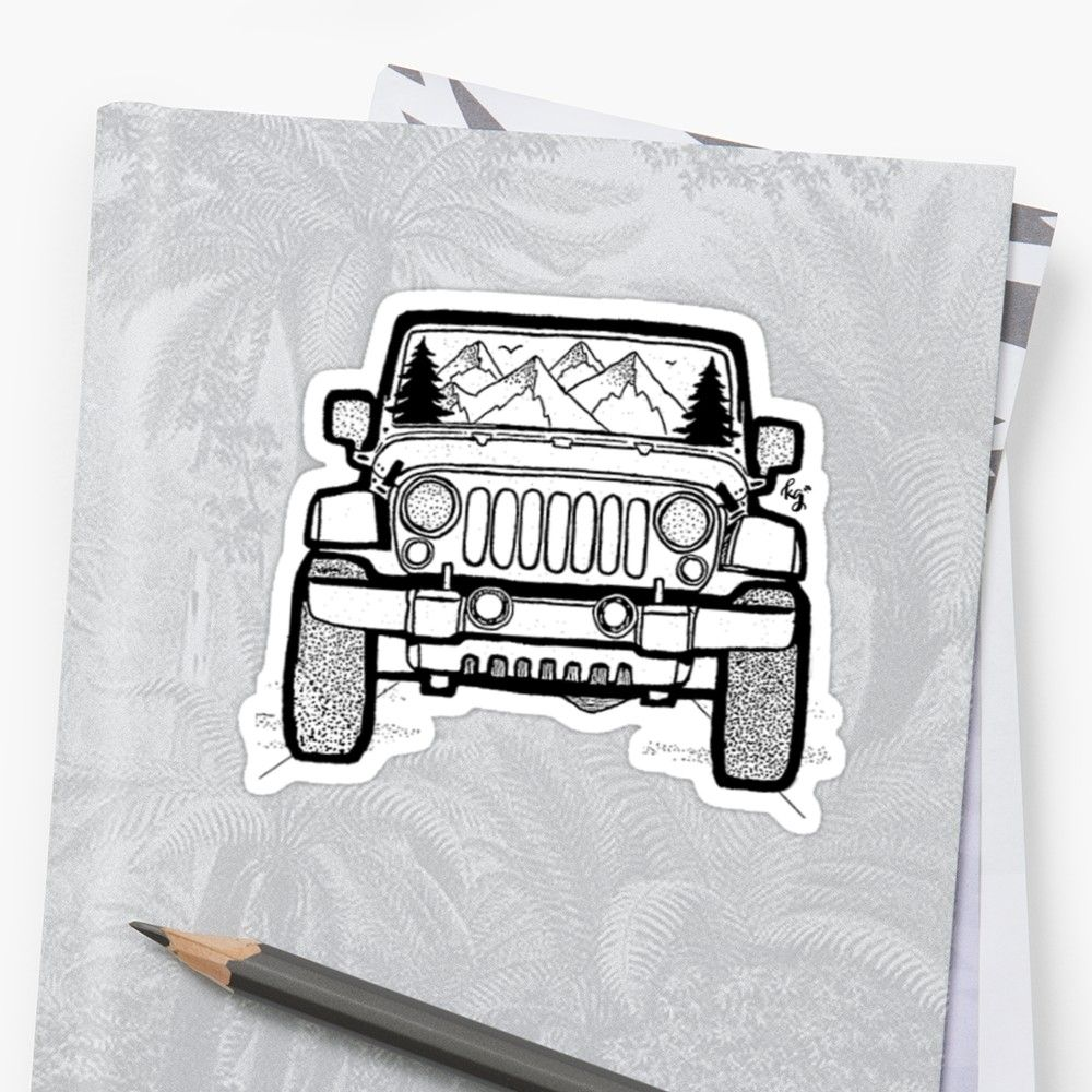 'Jeep Adventure' Sticker by irish.kate art Best car