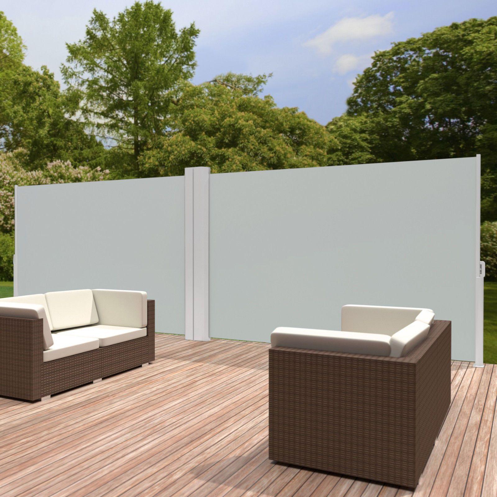 Details Zu Alu Doppel Seitenmarkise Sonnenschutz Sichtschutz