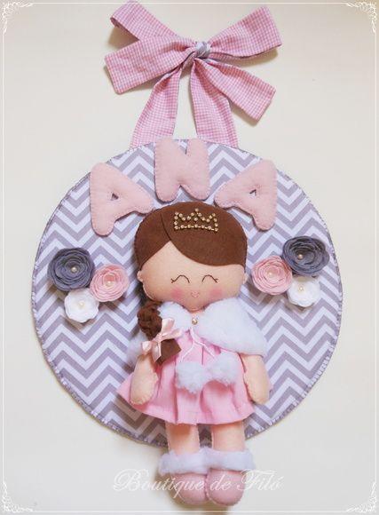 Porta maternidade boneca princesa. Porta de Maternidade ou Quadro ... ce6c80be65