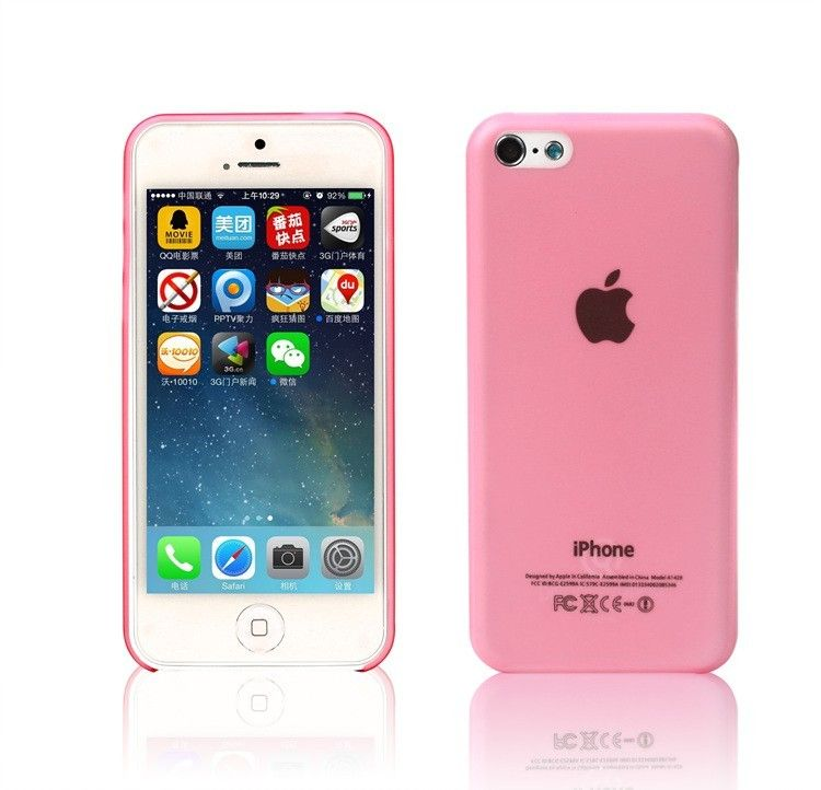 Silicone Iphone 5C Case Pink 1999 Free Shipping
