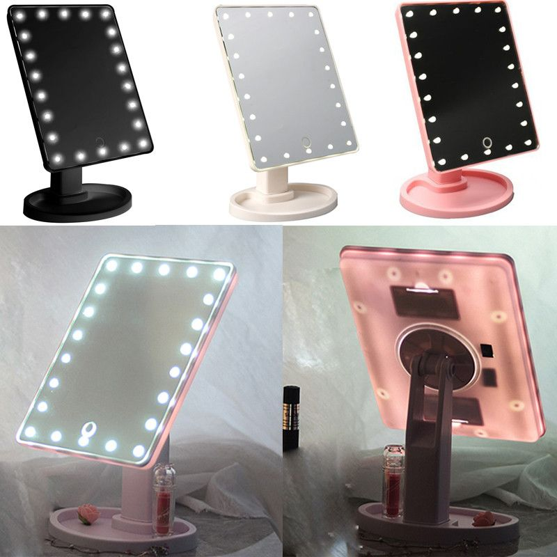 Touch Screen Cosmetic Mirror 16 Led Light Makeup Tool