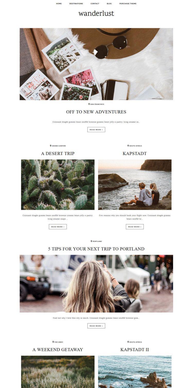 Magazine Blogger Template Wanderlust / Responsive | Webdesign ...